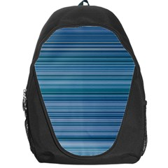 Horizontal Line Blue Backpack Bag by Mariart
