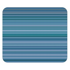 Horizontal Line Blue Double Sided Flano Blanket (small)  by Mariart