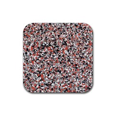 Hurley Mix Electric Electric Red Blend Rubber Coaster (square)  by Mariart