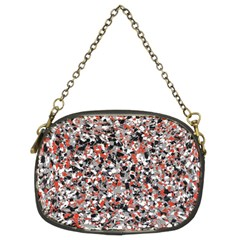 Hurley Mix Electric Electric Red Blend Chain Purses (two Sides)  by Mariart