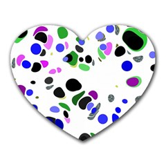 Colorful Random Blobs Background Heart Mousepads by Nexatart
