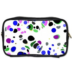 Colorful Random Blobs Background Toiletries Bags 2 Side by Nexatart