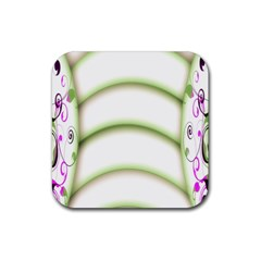 Abstract Background Rubber Coaster (square)  by Nexatart