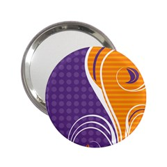 Leaf Polka Dot Purple Orange 2 25  Handbag Mirrors by Mariart