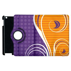 Leaf Polka Dot Purple Orange Apple Ipad 2 Flip 360 Case by Mariart
