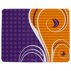 Leaf Polka Dot Purple Orange Jigsaw Puzzle Photo Stand (rectangular)