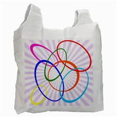 Abstract Background With Interlocking Oval Shapes Recycle Bag (two Side)  by Nexatart