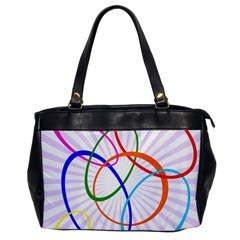 Abstract Background With Interlocking Oval Shapes Office Handbags by Nexatart
