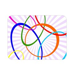 Abstract Background With Interlocking Oval Shapes Double Sided Flano Blanket (mini)