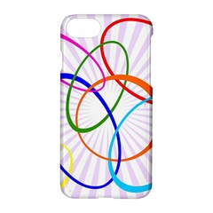 Abstract Background With Interlocking Oval Shapes Apple Iphone 7 Hardshell Case by Nexatart