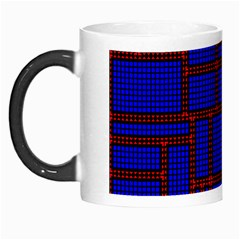 Line Plaid Red Blue Morph Mugs by Mariart