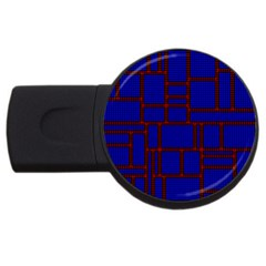 Line Plaid Red Blue Usb Flash Drive Round (4 Gb) by Mariart