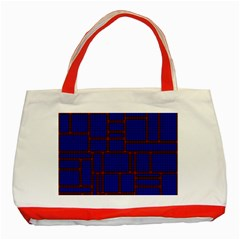 Line Plaid Red Blue Classic Tote Bag (red) by Mariart