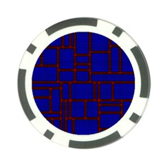 Line Plaid Red Blue Poker Chip Card Guard by Mariart