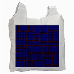Line Plaid Red Blue Recycle Bag (one Side) by Mariart