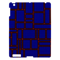 Line Plaid Red Blue Apple Ipad 3/4 Hardshell Case by Mariart
