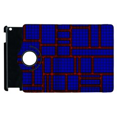 Line Plaid Red Blue Apple Ipad 2 Flip 360 Case by Mariart
