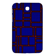 Line Plaid Red Blue Samsung Galaxy Tab 3 (7 ) P3200 Hardshell Case  by Mariart