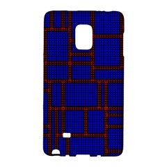 Line Plaid Red Blue Galaxy Note Edge by Mariart