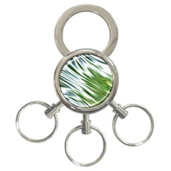 Fluorescent Flames Background Light Effect Abstract 3 Ring Key Chains