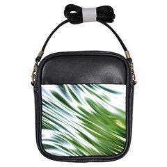 Fluorescent Flames Background Light Effect Abstract Girls Sling Bags by Nexatart