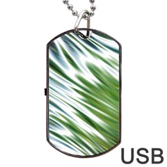 Fluorescent Flames Background Light Effect Abstract Dog Tag Usb Flash (one Side)