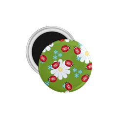 Insect Flower Floral Animals Star Green Red Sunflower 1 75  Magnets by Mariart