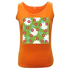 Insect Flower Floral Animals Star Green Red Sunflower Women s Dark Tank Top by Mariart