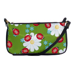 Insect Flower Floral Animals Star Green Red Sunflower Shoulder Clutch Bags