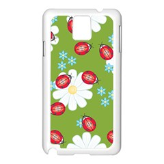 Insect Flower Floral Animals Star Green Red Sunflower Samsung Galaxy Note 3 N9005 Case (white) by Mariart
