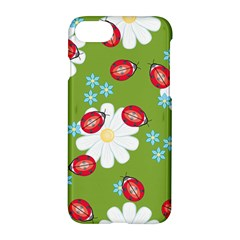 Insect Flower Floral Animals Star Green Red Sunflower Apple Iphone 7 Hardshell Case by Mariart