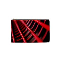 Abstract Of A Red Metal Chair Cosmetic Bag (small)  by Nexatart