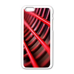 Abstract Of A Red Metal Chair Apple Iphone 6/6s White Enamel Case