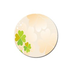 Leaf Polka Dot Green Flower Star Magnet 3  (round) by Mariart
