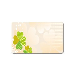 Leaf Polka Dot Green Flower Star Magnet (name Card) by Mariart