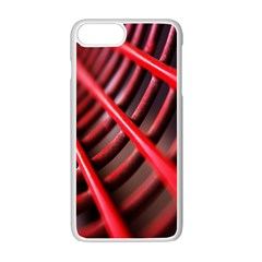 Abstract Of A Red Metal Chair Apple Iphone 7 Plus White Seamless Case by Nexatart