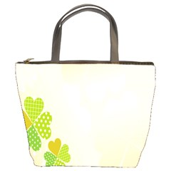 Leaf Polka Dot Green Flower Star Bucket Bags by Mariart