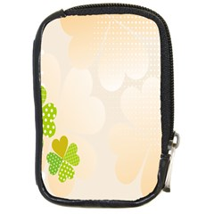 Leaf Polka Dot Green Flower Star Compact Camera Cases by Mariart
