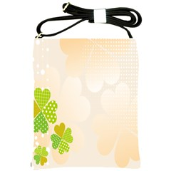 Leaf Polka Dot Green Flower Star Shoulder Sling Bags by Mariart