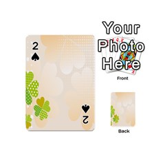 Leaf Polka Dot Green Flower Star Playing Cards 54 (mini)  by Mariart