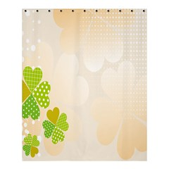 Leaf Polka Dot Green Flower Star Shower Curtain 60  X 72  (medium)  by Mariart