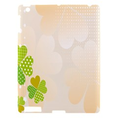 Leaf Polka Dot Green Flower Star Apple Ipad 3/4 Hardshell Case by Mariart