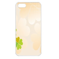 Leaf Polka Dot Green Flower Star Apple Iphone 5 Seamless Case (white) by Mariart