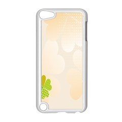 Leaf Polka Dot Green Flower Star Apple Ipod Touch 5 Case (white) by Mariart