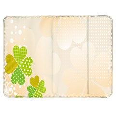 Leaf Polka Dot Green Flower Star Samsung Galaxy Tab 7  P1000 Flip Case by Mariart