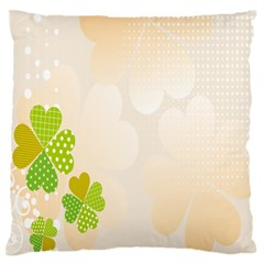 Leaf Polka Dot Green Flower Star Standard Flano Cushion Case (two Sides) by Mariart