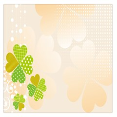 Leaf Polka Dot Green Flower Star Large Satin Scarf (square) by Mariart