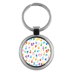 Musical Notes Key Chains (round)  by Mariart