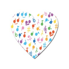 Musical Notes Heart Magnet by Mariart