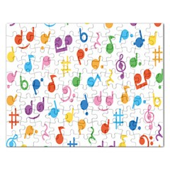 Musical Notes Rectangular Jigsaw Puzzl by Mariart